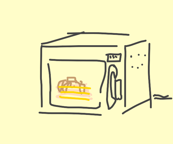 pancakes in a microwave