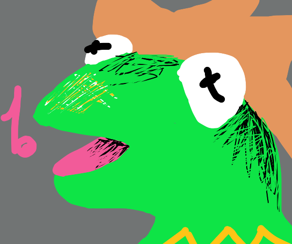 Kermit cowboy is singing