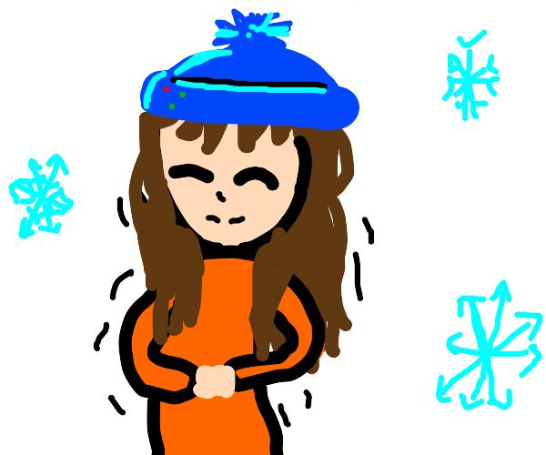 a cold anime girl
