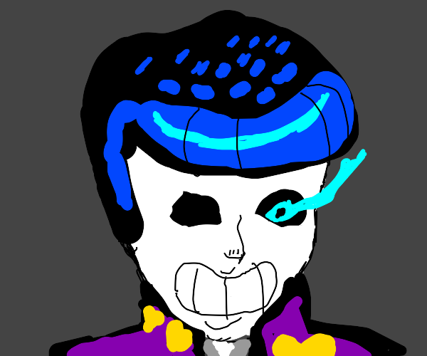 Sans but with Josuke hair, nose and jacket