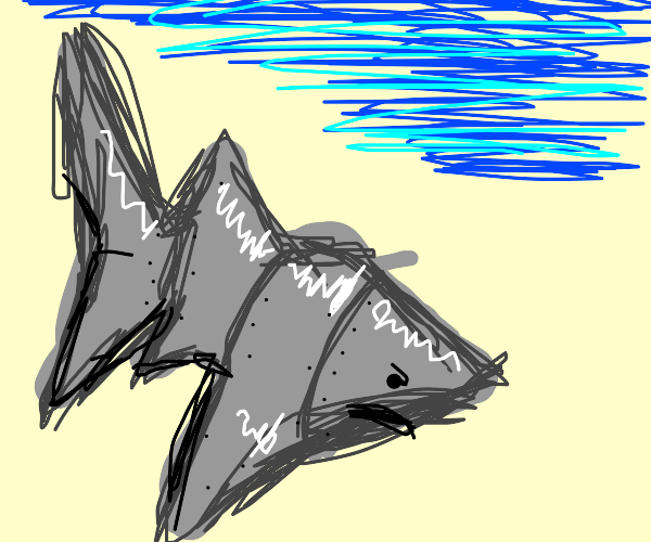 Angry metal shark