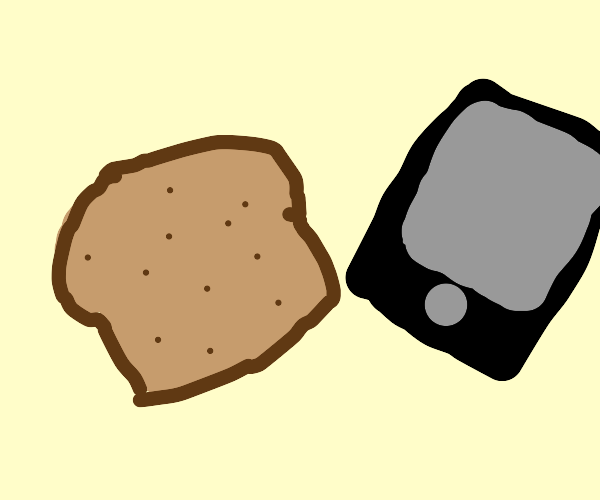 bread and phone next to each other