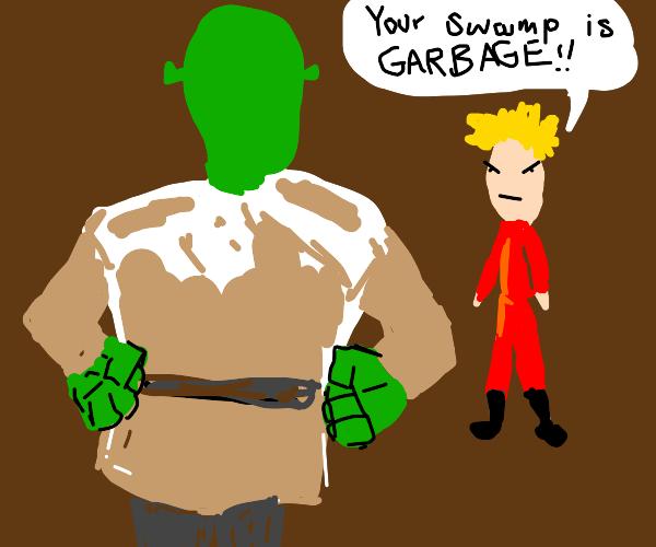 Fool disrespecting Shrek