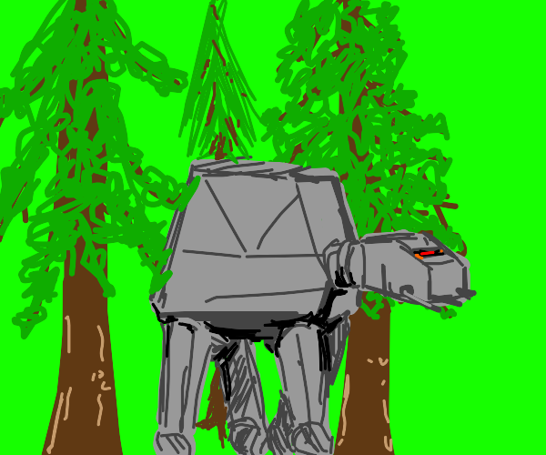 the ATAT just wants to chill under some trees