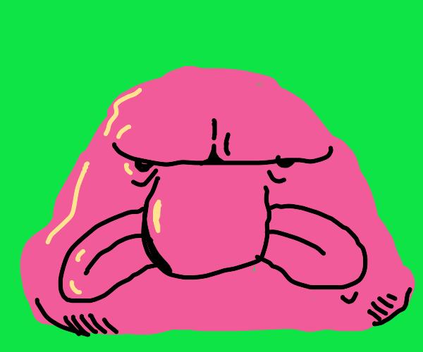 Weird pink blob from alien movie