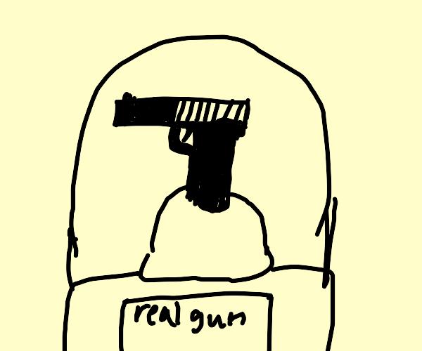 real guns on display