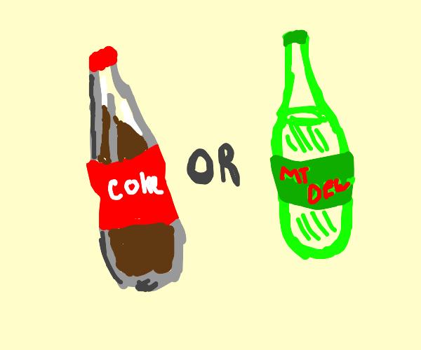 Coke or dew?