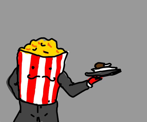 Popcorn bucket serves chicken