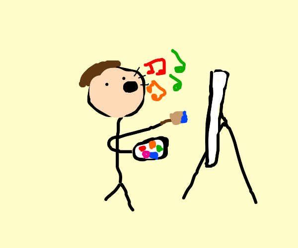 Painter Singing