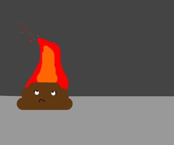 a burning piece of crap