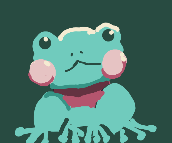 Frog with red neck