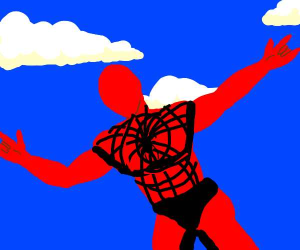 Spider man with no face