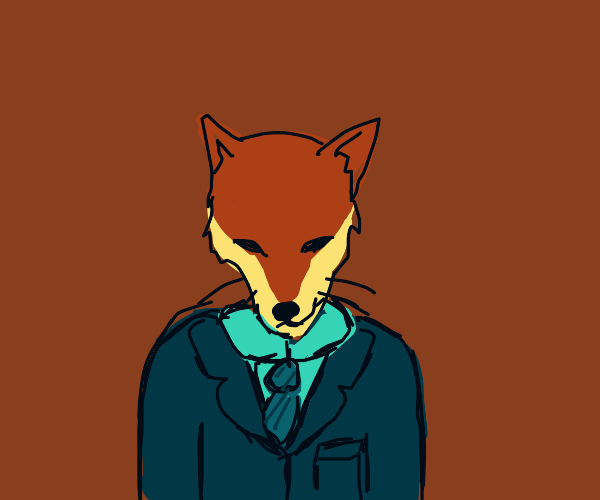 Smug fox man