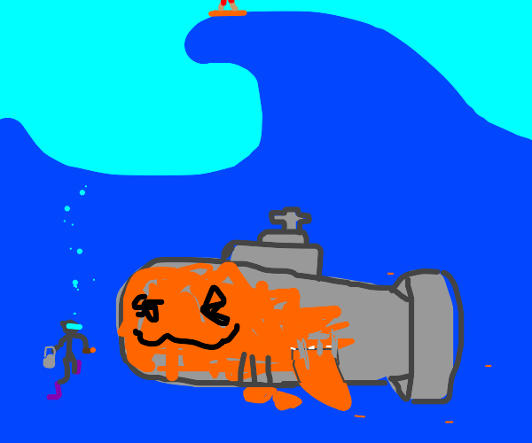 A sub disguised as a fish. Well, almost.