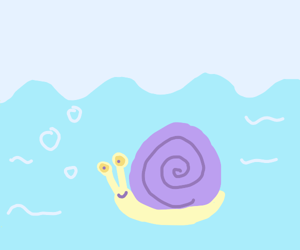 Snail under the sea