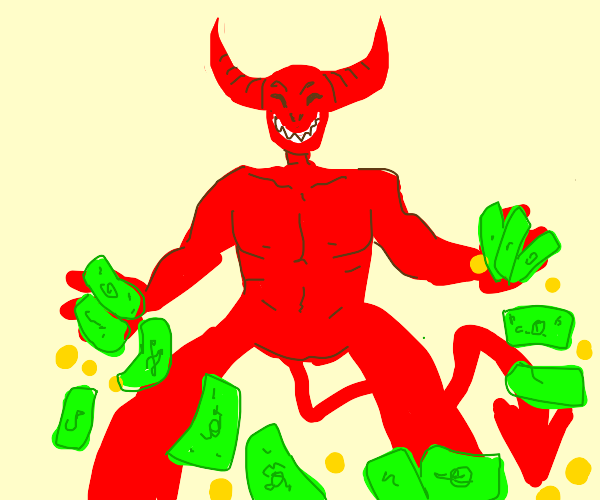Satan making it rain green