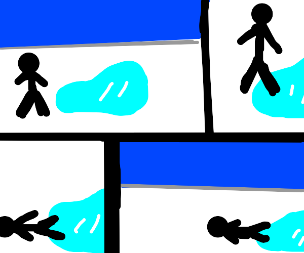 Comic about slipping on ice