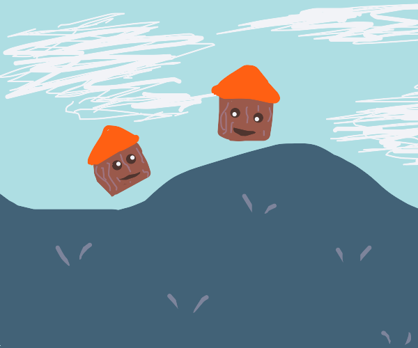 happy houses on a hill