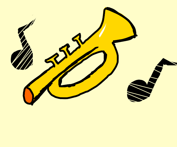 tooting trumpet
