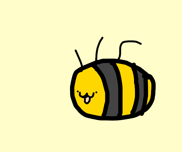 bee with a puppy face