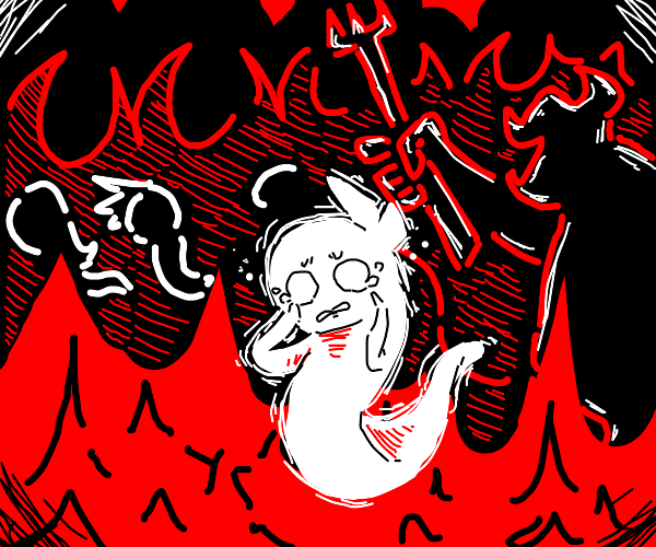 Sad soul in hell