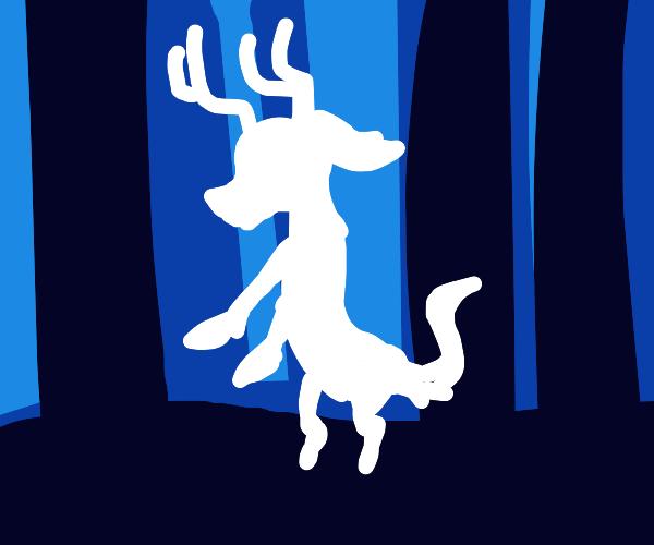 White deer ghost