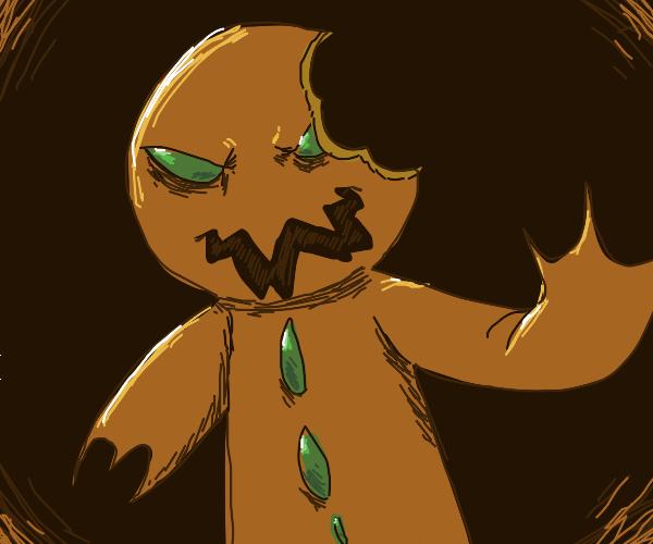 Monster gingerbread cookie