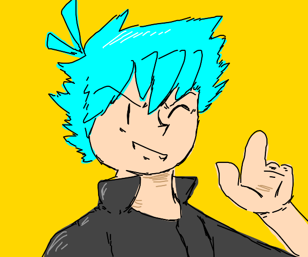 Blue haired boy protagonist only has 2fingers