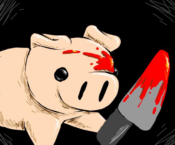 Murderoud pig