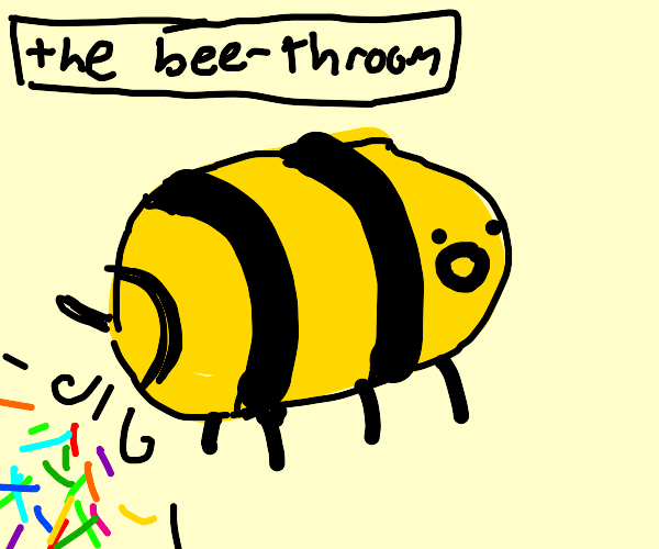 Bee is pooping confetti