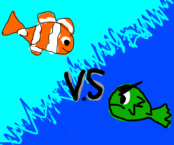 nemo vs angry fish, who will win?