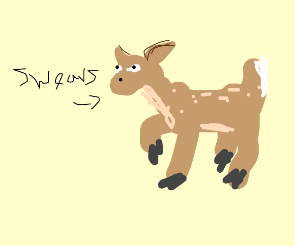 deer swearing