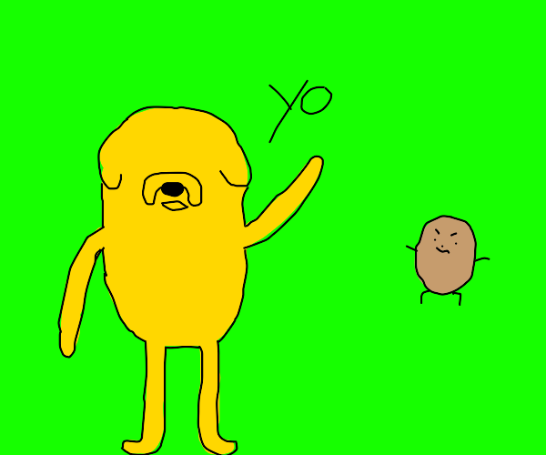 Jake has no eyes and says yo to a kid