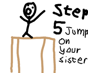 Step four, stand on top the fixed table