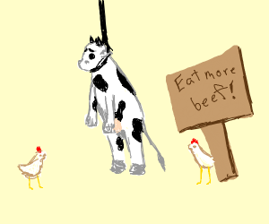 cow hanging
