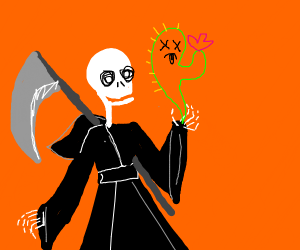 reaper claims the soul of a cactus