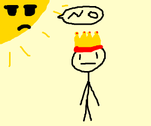 sun dislikes the king