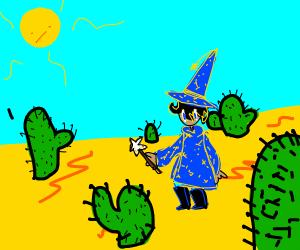 wizard in desert