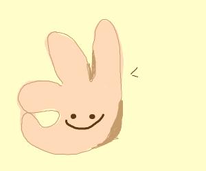 ok hand emoji