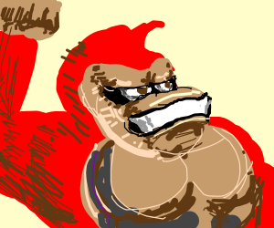 angry red donkey kong
