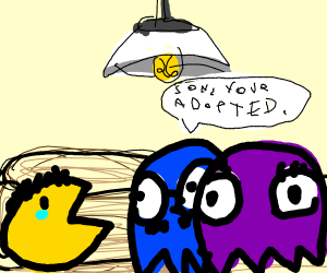 Pacman's parents tell him he is adopted
