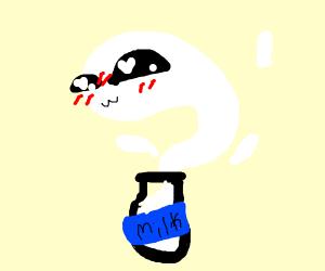 Milk bottle ghost