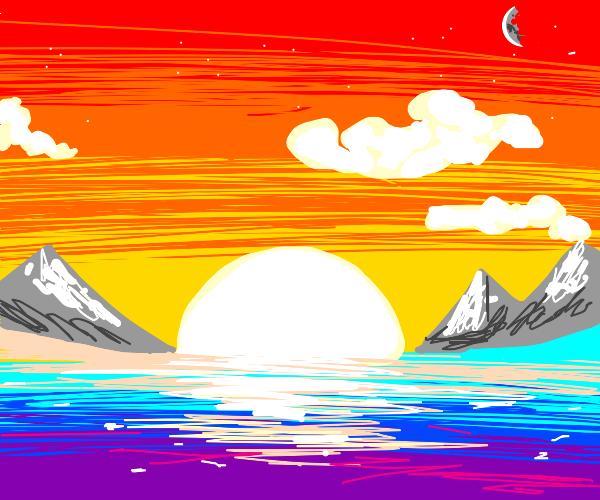A sun set