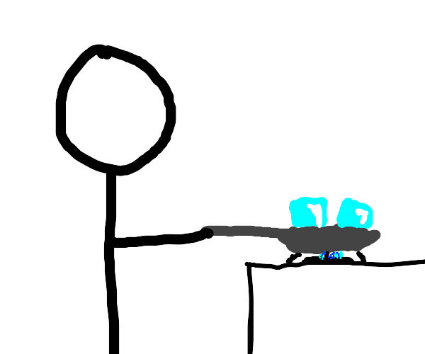 Stickman cooking an Icecube