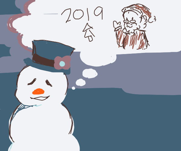Frosty thinks to last Christmas and Santa