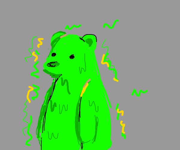 Toxic green bear