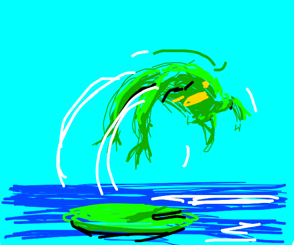 Frog does a backflip