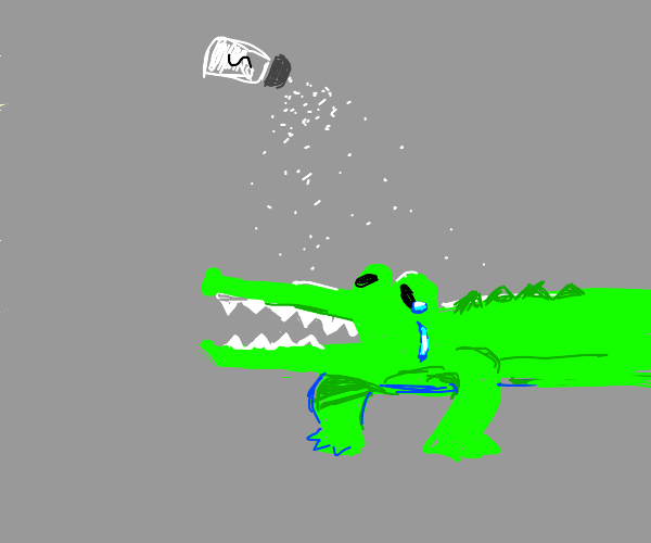 Salting An Alligator To Make It Cry