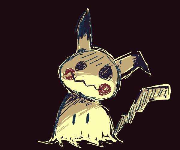 Mimikyu in the dark