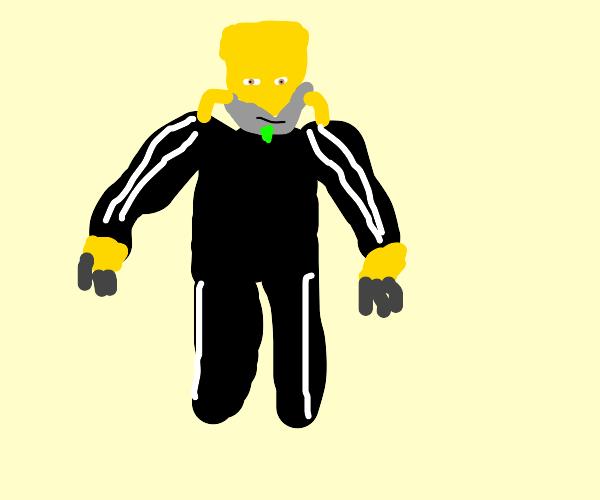 Dio ZA WARUDOS in a black jumpsuit
